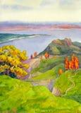 Herbst-Hügel Stockbild