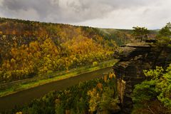 Herbst im Elbe-Tal Lizenzfreies Stockbild