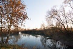 Herbst im Fluss Lizenzfreie Stockfotografie
