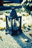 Herbst im Kirchhof Stockfotografie