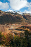 Herbst im Patagonia Tierra del Fuego Stockbilder