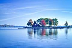 Herbst im Ramsey See Stockfotos