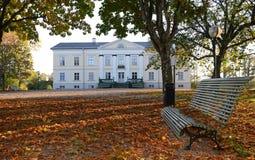 Herbst im schwedischen Park Lizenzfreie Stockfotografie