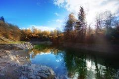 Herbst im Steinbruch Stockfotos