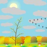 Herbst im Wald. Lizenzfreie Stockfotografie