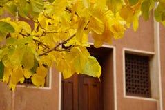 Herbst im Zoroastriandorf Abyaneh, der Iran Lizenzfreie Stockfotografie
