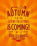 Herbst ist kommendes Design. Stockbilder
