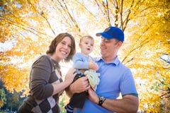 Herbst ist Spaß für die Familie Lizenzfreies Stockfoto