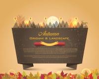 Herbst-Jahreszeit-Auslegungs-VektorOrigami Hintergrund Stockfotos