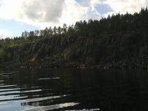 Herbst, Karelien, Jagd, Wald, Landschaft, der Ladogasee Lizenzfreie Stockbilder
