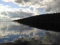 Herbst, Karelien, Jagd, Wald, Landschaft, der Ladogasee Stockbild
