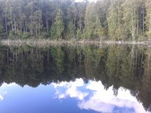 Herbst, Karelien, Jagd, Wald, Landschaft, der Ladogasee stockfotos