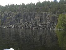 Herbst, Karelien, Jagd, Wald, Landschaft, der Ladogasee Lizenzfreies Stockfoto
