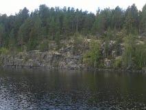 Herbst, Karelien, Jagd, Wald, Landschaft, der Ladogasee stockfotografie