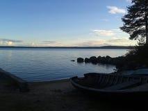 Herbst, Karelien, Jagd, Wald, Landschaft, der Ladogasee Lizenzfreies Stockbild
