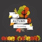 Herbst kommt Stockbild