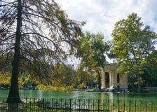 Herbst am Landhaus Borghese Stockfoto