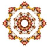 Herbst-Mandala Stockfoto