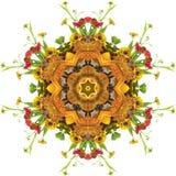 Herbst-Mandala stockbild