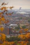 Herbst mit Stadt-Ansicht Stockbild