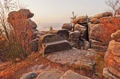 Herbst-Morgen-Landschaft Lizenzfreie Stockbilder