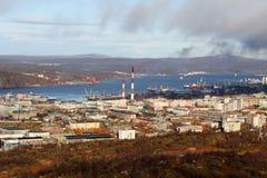 Herbst in Murmansk Stockfoto