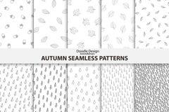 Herbst-nahtlose Muster Hand gezeichnetes Design Lizenzfreies Stockfoto