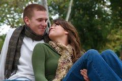 Herbst-Paare stockfotos