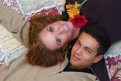 Herbst-Paare Lizenzfreies Stockfoto