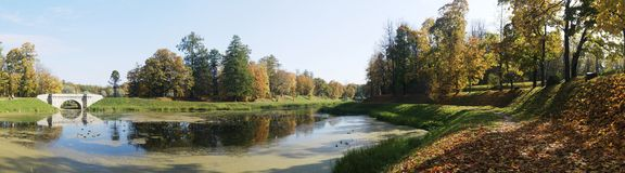 Herbst-Panorama Lizenzfreie Stockfotografie