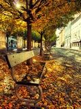 Herbst in Prag/in Kampa stockfotos