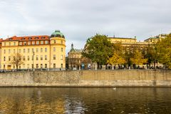 Herbst in Prag, Tschechische Republik, Europa Lizenzfreies Stockbild