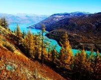 Herbst in See kanas Stockbild