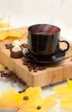 Herbst-Tasse Kaffee Lizenzfreie Stockfotos