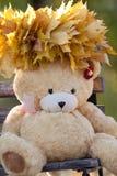 Herbst-Teddybär Lizenzfreie Stockfotos