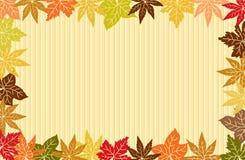 Herbst treibt Hintergrund Blätter Lizenzfreies Stockbild