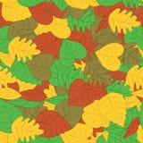 Herbst treibt nahtloses Muster Blätter Stockbild