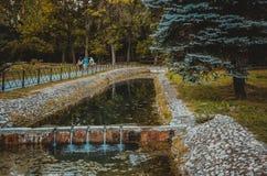 Herbst und die Stadt Stockfoto