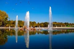 Herbst in Versailles stockfotografie