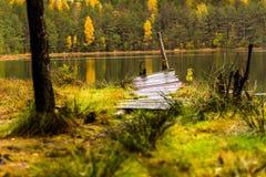 Herbst viev auf einem See Stockfotos