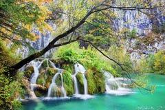 Herbst-Wasserfall Lizenzfreies Stockbild