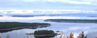 Herbst Weißes Meer Stockfoto