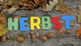 Herbst written Royalty Free Stock Images