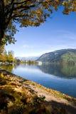Herbst in Zell morgens sehen Lizenzfreies Stockbild