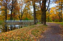Herbstabend bei Alexander Park Stockfoto