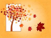 Herbstahornholzbaum Lizenzfreie Abbildung