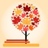 Herbstahornholzbaum Vektor Abbildung