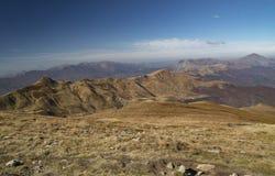 Herbstansicht der Berge Cupolino und Spigolino stockbild