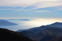 Herbstansicht vom Berg Lizenzfreie Stockfotos