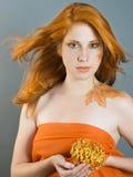 Herbstart Gesichtkunst Lizenzfreie Stockfotografie